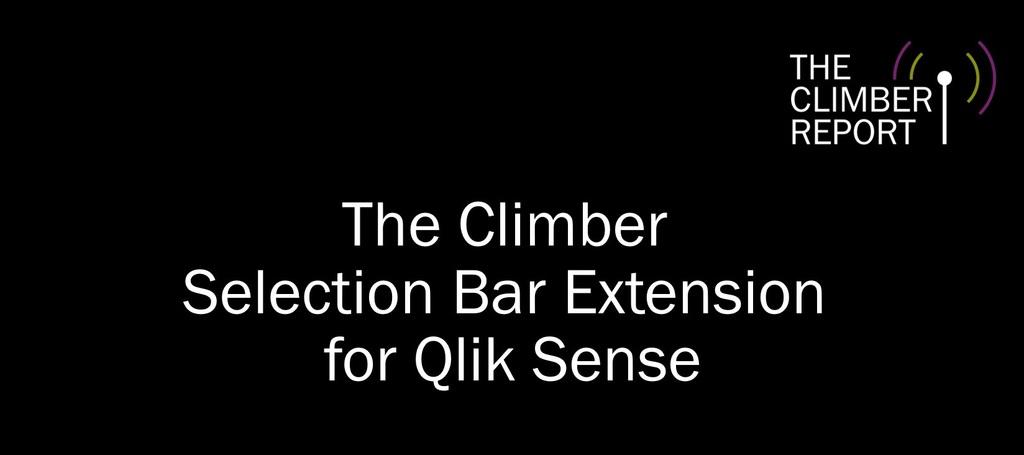 Selection Bar Extension för Qlik Sense