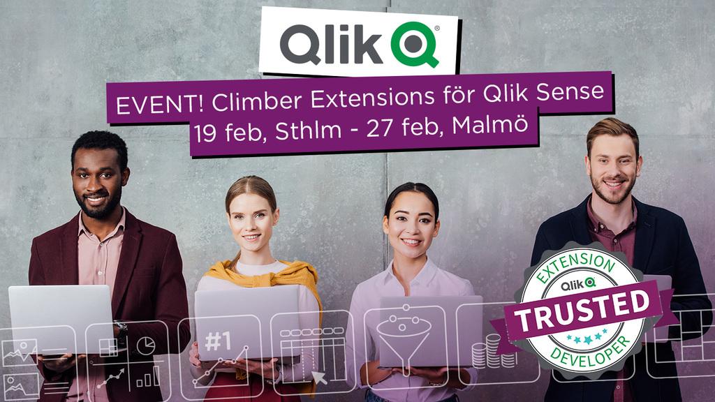 Event: Climber Extensions för Qlik Sense
