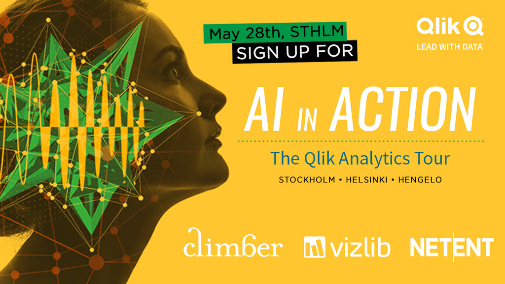 Qlik Analytics Tour: AI in Action med Climber och Vizlib