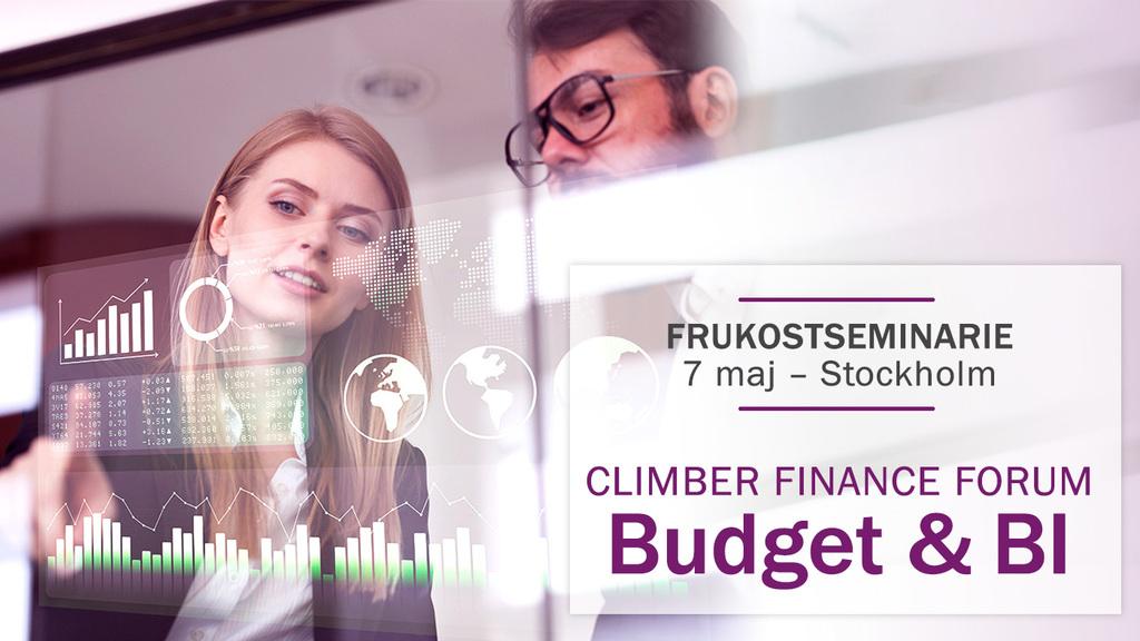 Frukostseminarium: Climber Finance Forum – Budget och BI