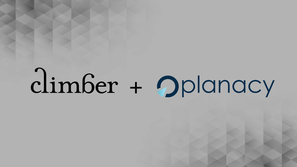 Climber blir Planacy partner – Perfect match
